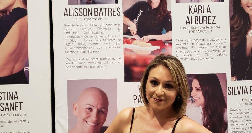 Alisson Batres reconocida como una de las 100 mujeres líderes en Guatemala